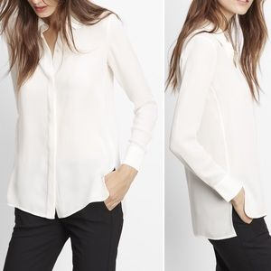 Vince • Classic Silk Long Sleeve Button Up Blouse